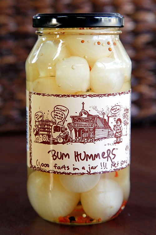 bum hummers pickled onions