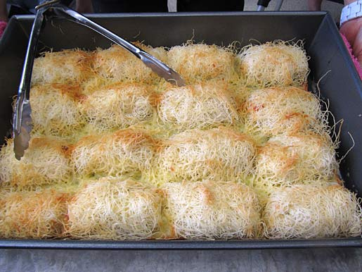 cheese rolls with kataifi pastry