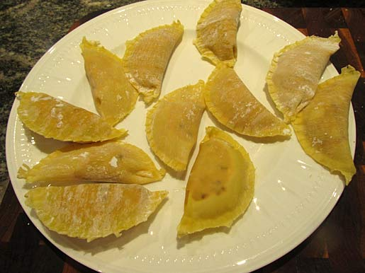 pumpkin ravioli in wonton wrappers