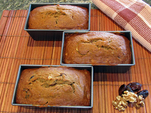 banana date and walnut bread