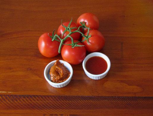 chilli jam and chilli sauce