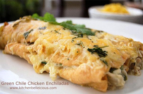 Green Chile Chicken Enchiladas by kitchenbelleicious.com