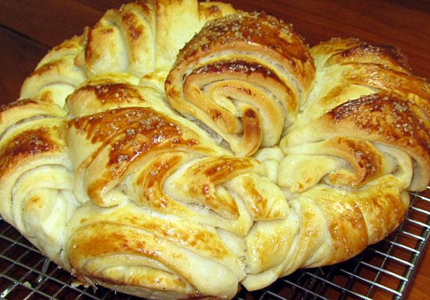 Pitka with Honey - Bulgarian bread