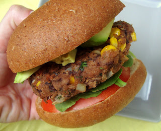 spicy black bean burger from bakeyourday.net