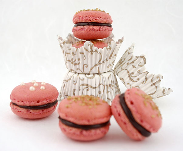 Beetroot Macarons by Jamie Schler