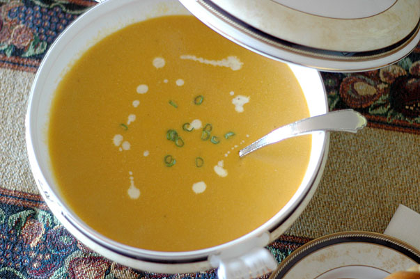 Butternut Squash, Cashew and Ginger Soup