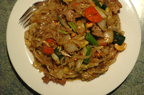 Beef Pad Thai from Yummy Thai in Buderim