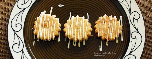 Cinnamon Hazelnut Shortbread by bakerstreet.tv