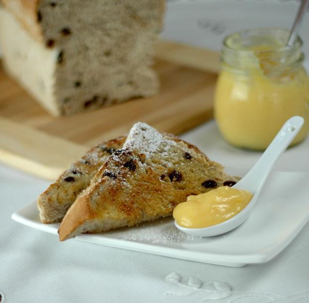 Raisin Bread and Lemon Curd
