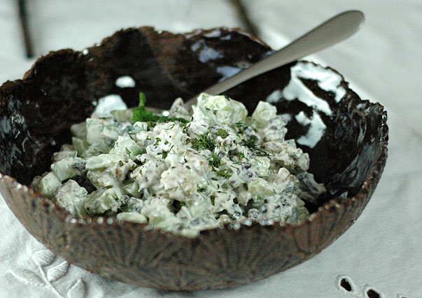 Persian Cucumber Salad with Walnuts and Sultanas