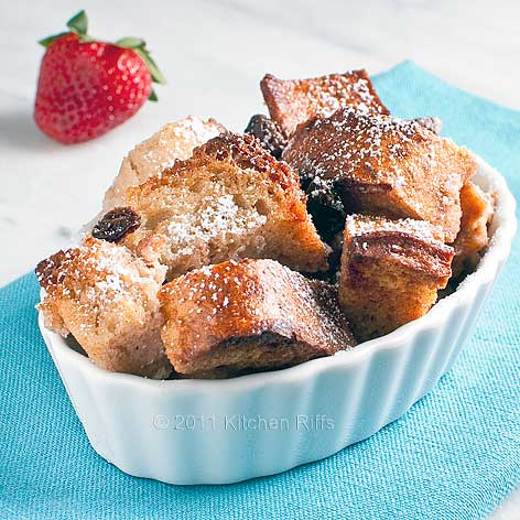 Rich and Easy Bread Pudding by kitchenriffs.com