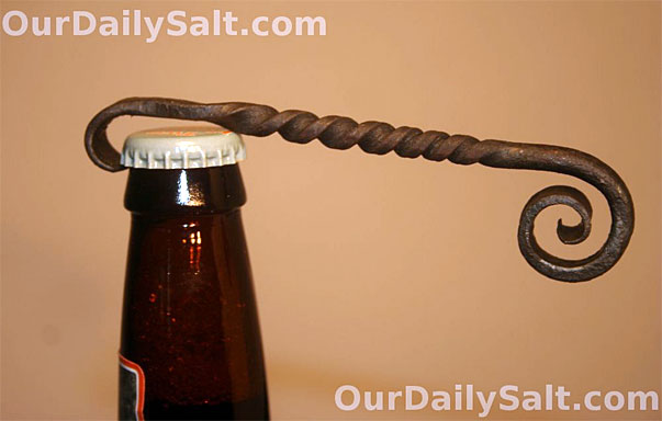 wrought iron bottle opener