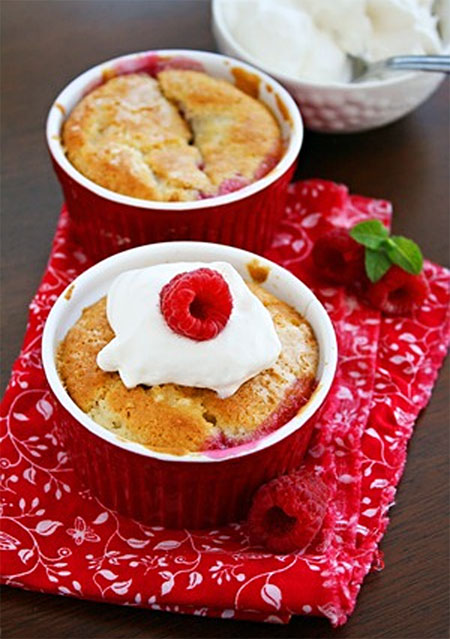 Mini Raspberry Cobblers