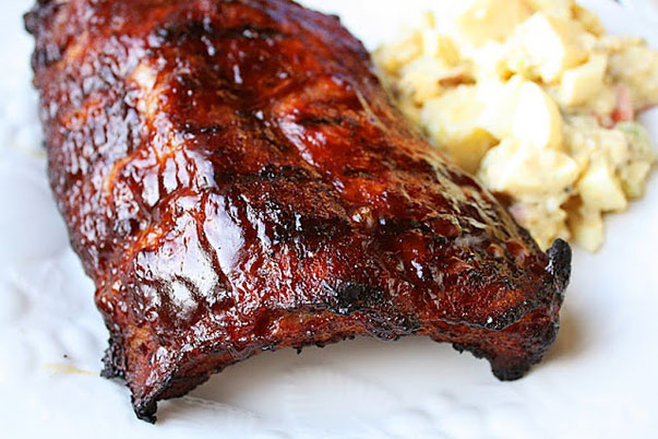 Barbecued Baby Back Ribs by Georgia at The Comfort of Cooking