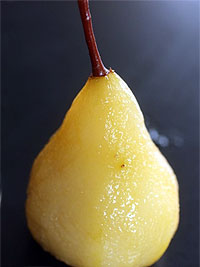 Vanilla Poached Pear by David Lebovitz