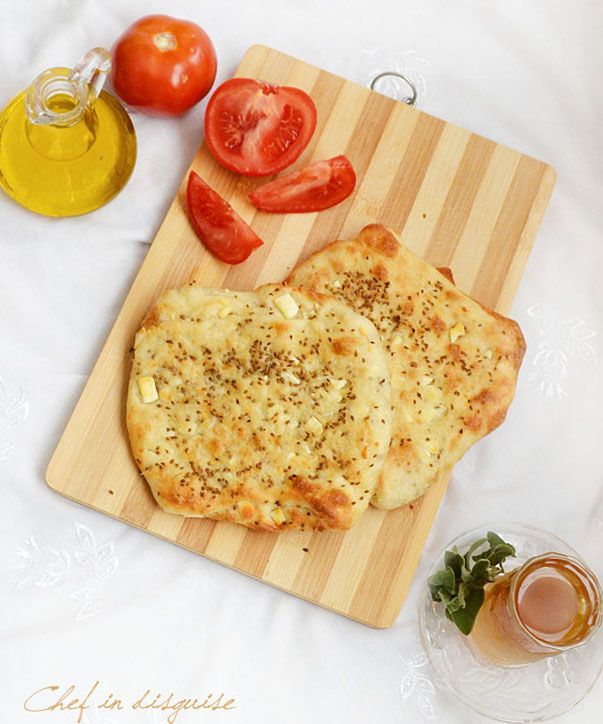 Fteer falahi (Cheese and anise flat bread) by chefindisguise.com
