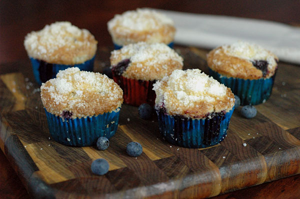 Blueberry Muffins with Lemon Sugar Crust