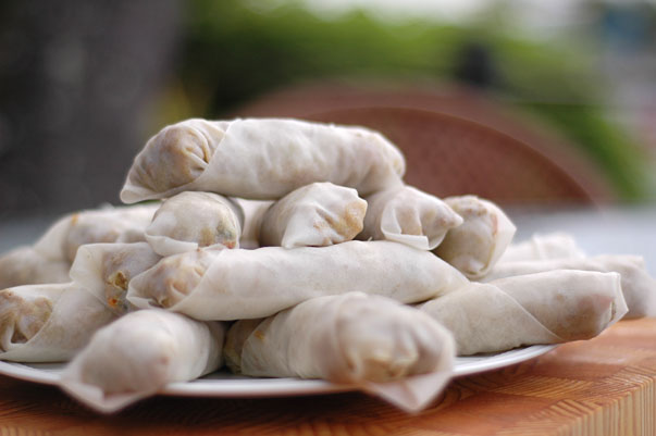 Spring Rolls ready to fry