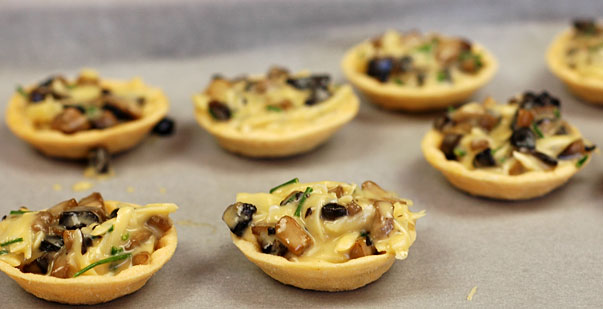 How to make a mushroom tart