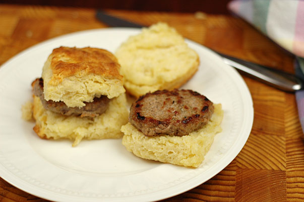 homemade sausage biscuits