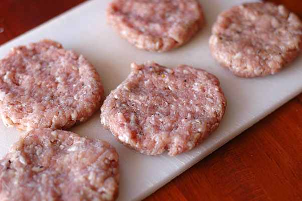 homemade sausage patties