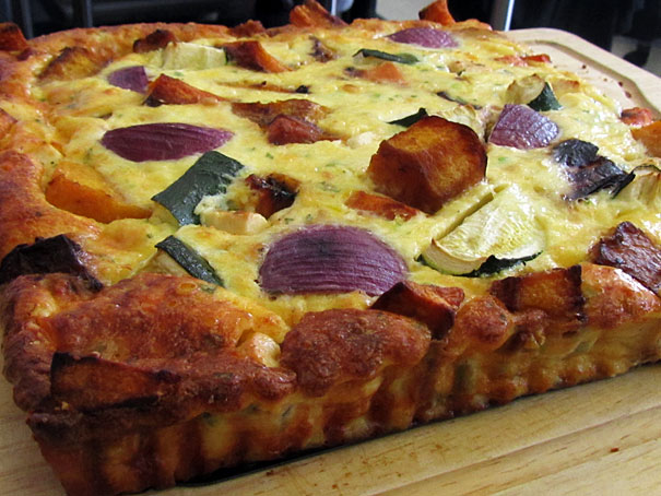 frittata with roasted vegetables
