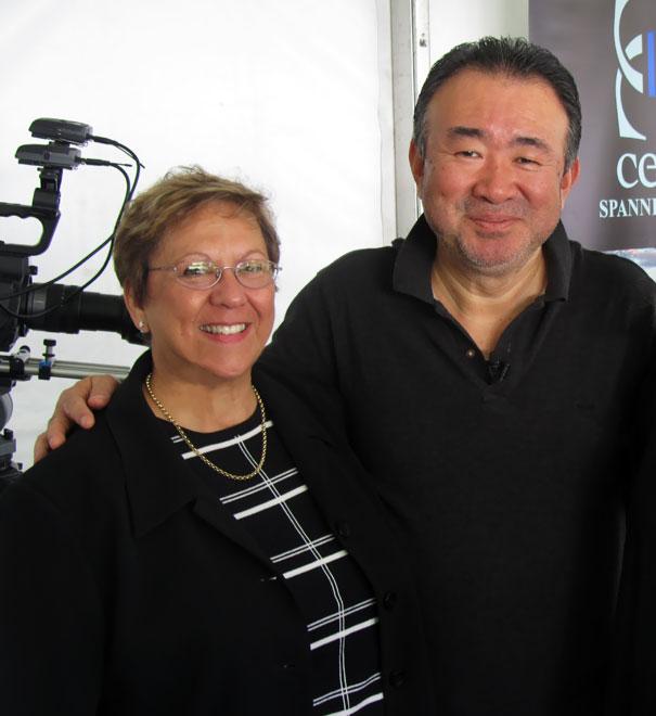 Tetsuya Wakuda and Maureen Shaw