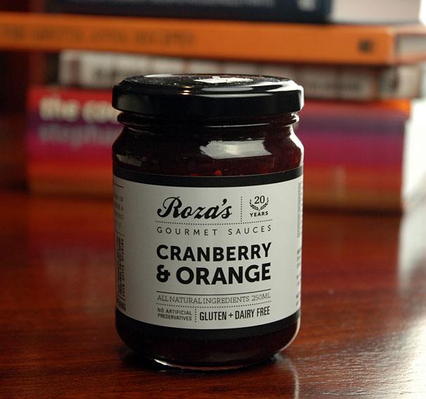Roza's cranberry orange sauce