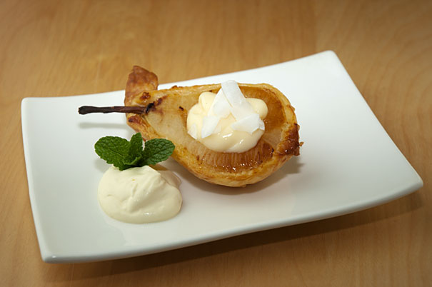 pears in a puff pastry shell