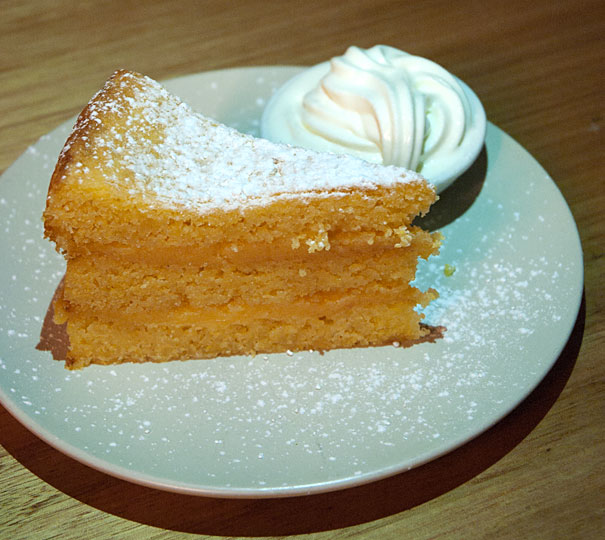 lemon filled polenta cake