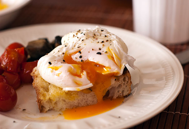 Australian breakfast with roasted tomatoe