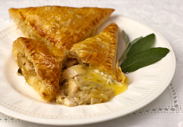 Chicken and Brie Parcels