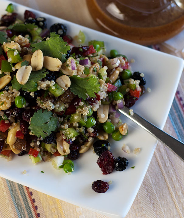 Quinoa Salad with Curried Balsamic Dressing
