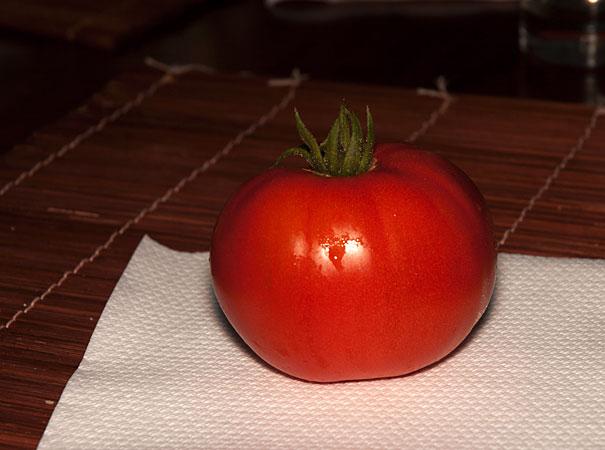 home grown tomato