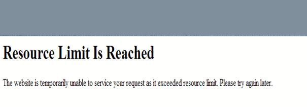 resource limit