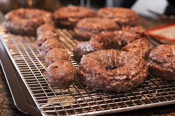 Glazed Chocolate Donuts