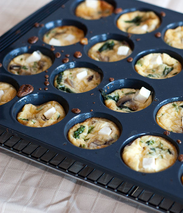 Spinach and Mushroom Mini Frittatas