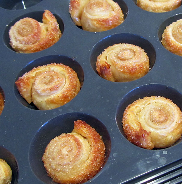 Easy Puff Pastry Cinnamon Scrolls