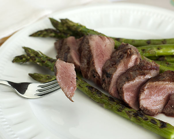 BBQ Lamb with Asparagus