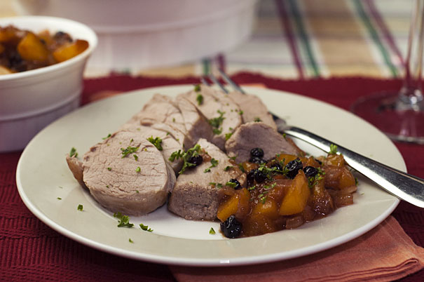 Pork Tenderloin with Peach Chutney