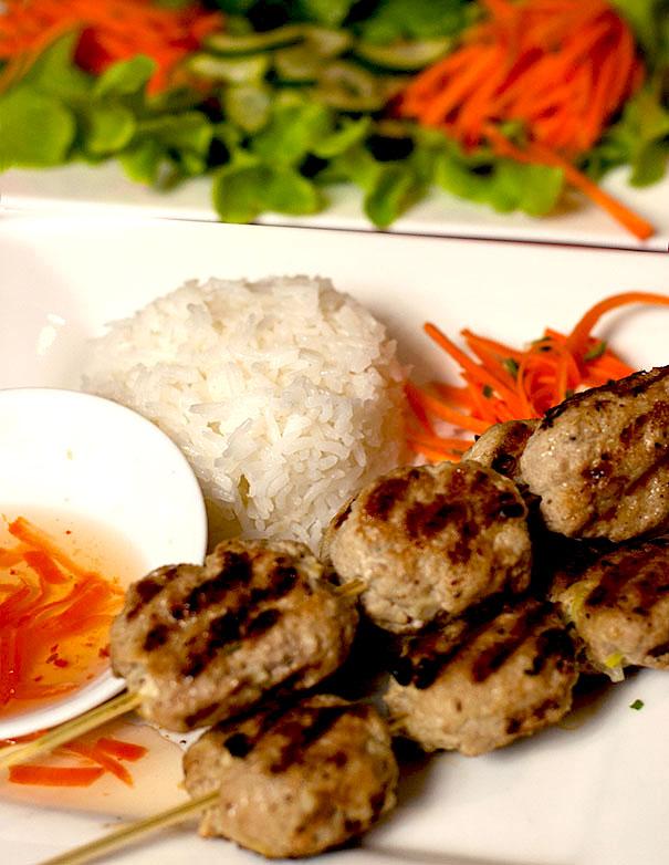 Vietnamese Pork Patty Skewers