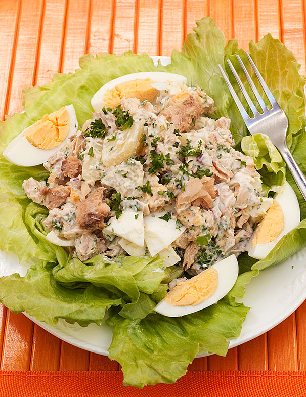 Potato Salad with Salmon