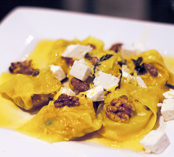 Roasted Carrot and Butternut Tortellini with Brown Butter and Sage Sauce