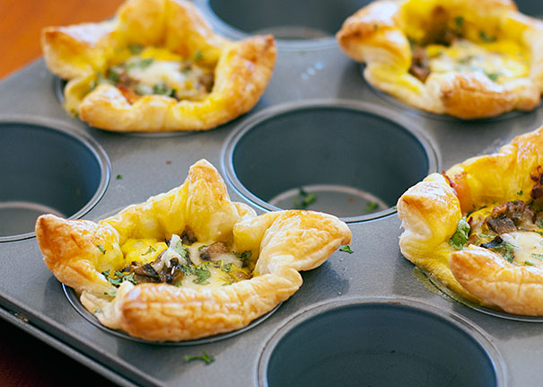 Puff Pastry Individual Quiches