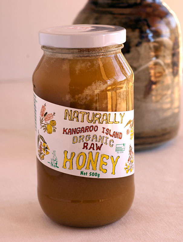 Organic raw honey from Kangaroo Island