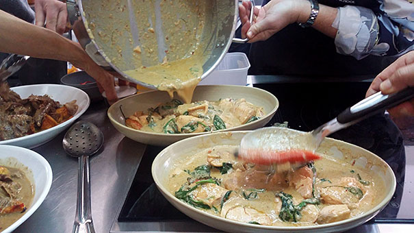 Red Curry with Salmon