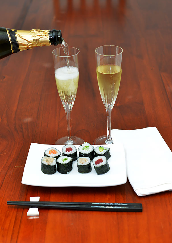 Champagne and Sushi