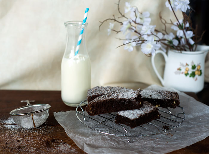 food styled brownies