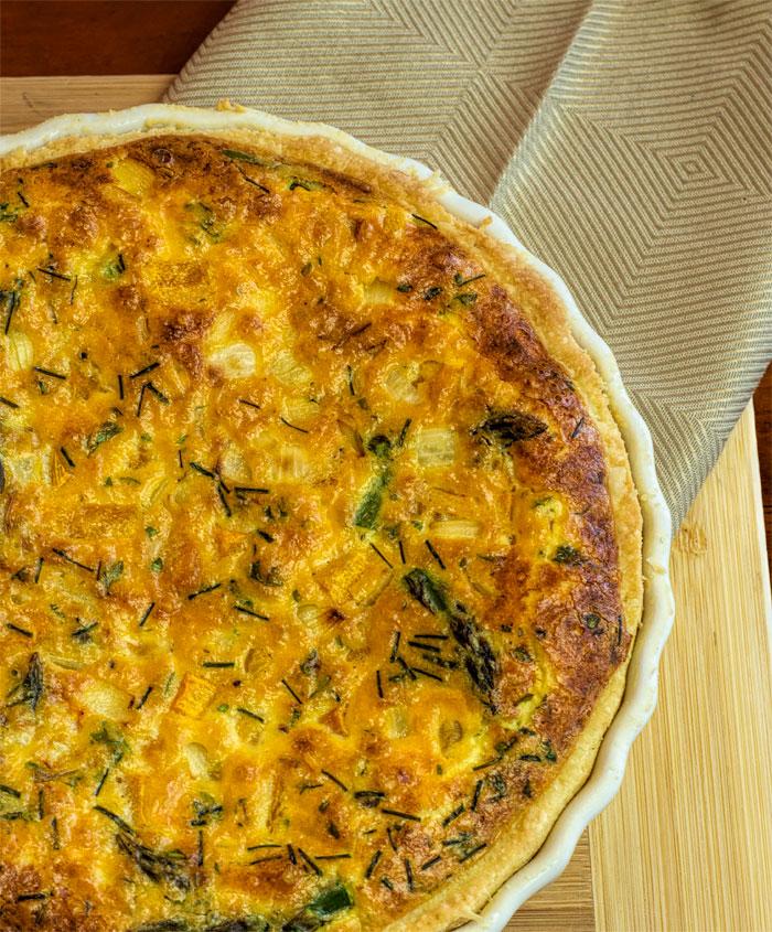 Pumpkin and Asparagus Quiche