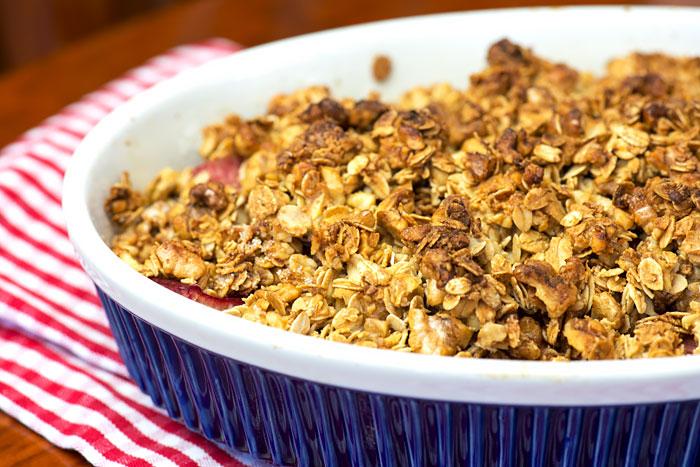 Apple Rhubarb Crumble
